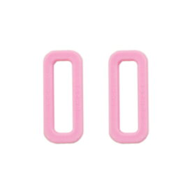 YKK プラスチックパーツ 角カン(LH25) 25mm幅テープ用 ピンク 2個入 (B)_4a_