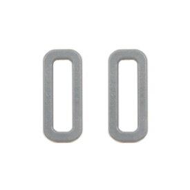 YKK プラスチックパーツ 角カン(LH25) 25mm幅テープ用 グレー 2個入 (B)_4a_