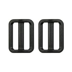 YKK プラスチックパーツ アジャスター(LA25) 25mm幅テープ用 黒 2個入 (B)_4a_