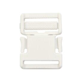 YKK プラスチックパーツ 差し込みバックル(LB30) 30mm幅テープ用 白 1個入 (B)_4a_