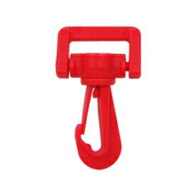 YKK プラスチックパーツ ナスカン(LN20) 20mm幅テープ用 赤 1個入 (B)_4a_