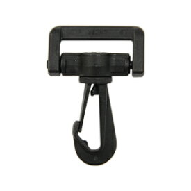 YKK プラスチックパーツ ナスカン(LN25) 25mm幅テープ用 黒 1個入 (B)_4a_