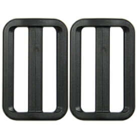 YKK プラスチックパーツ アジャスター(LA50) 50mm幅テープ用 黒 2個入 (H)_4b_