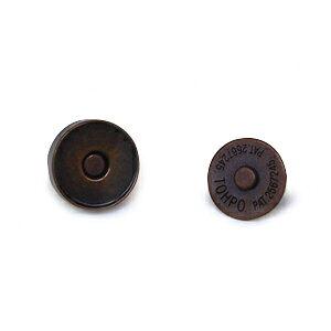 マグネットボタン 磁気防止差し込みタイプ(1121) 14mm B.ブロンズ (H)_6a_