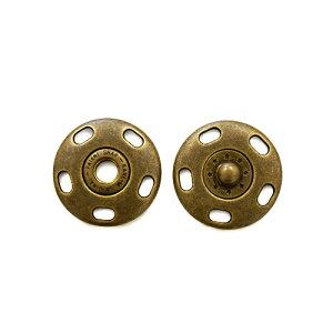 ジャンボ縫い付けスナップボタン(BAK42002) 30mm AG.アンティークゴールド (H)_6a_