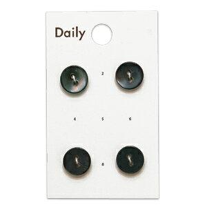 ボタン Daily 高瀬貝アフターシェル2つ穴(OKDB-007) 11.5mm GRY.グレー (H)_6a_