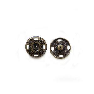 スナップボタン スタンプスナップ 17mm AG.アンティークゴールド 4組入 (H)_6a_