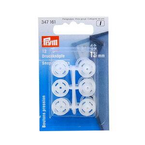 スナップボタンprym<プリム>プラスチックスナップ13mm透明6a