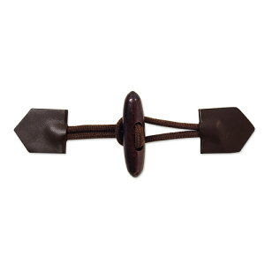 ひも付きダッフルボタン(MK193) 60mm ブラウン (H)_6a_