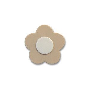 お花ボタン(65246) 13mm 42.ベージュ×白 (H)_6a_