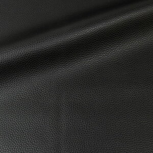 合皮生地フェイクレザーライチ(10008)BK.ブラック(H)_k5_