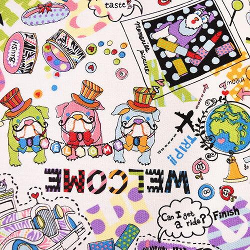 生地 KayoHoraguchi-ホラグチカヨ- コミック/綿麻キャンバス(HKF-48) OW.オフホワイト系 (B)_atj
