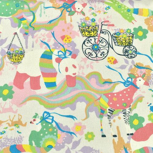 生地 KayoHoraguchi-ホラグチカヨ- マッチングパターン/綿麻キャンバス(HKF-53) P.ピンク系 (b)k1