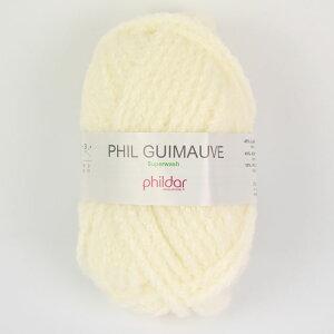 毛糸 Phildar-フィルダ?- GUIMAUVE-ギモーヴ ECRU.オフホワイト (M)_b1_