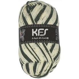 毛糸 Opal-オパール- オリジナルカラー6本撚り ぽっちゃり君 KFS164.ゼブラ/アイボリー・チャコール系 (M)_b1j