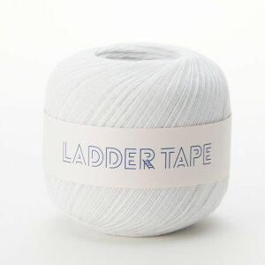 手編み糸 ダルマ(横田) ラダーテープ 1.ホワイト (M)_b1_