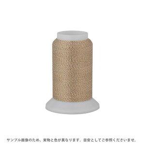 ロックミシン糸 メタリックウーリーナイロン 122Dtex/2 500m巻 色番Mー305.白×ゴールドラメ (H)_6b_