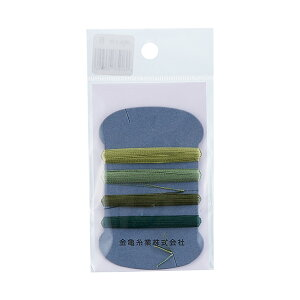 金亀 手縫い糸 絹糸 9号 4色セット 各10m巻(100033) 色番8 (H)_6b_