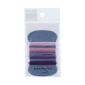 金亀 手縫い糸 絹糸 9号 4色セット 各10m巻(100033) 色番9 (H)_6b_