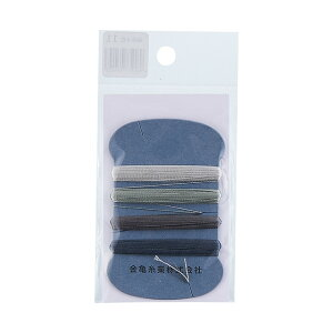 金亀 手縫い糸 絹糸 9号 4色セット 各10m巻(100033) 色番11 (H)_6b_
