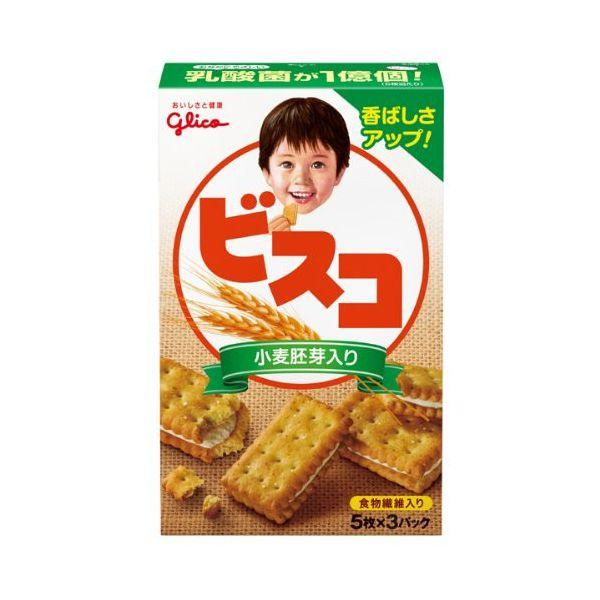 グリコ ビスコ(小麦胚芽入り) 15枚×10箱