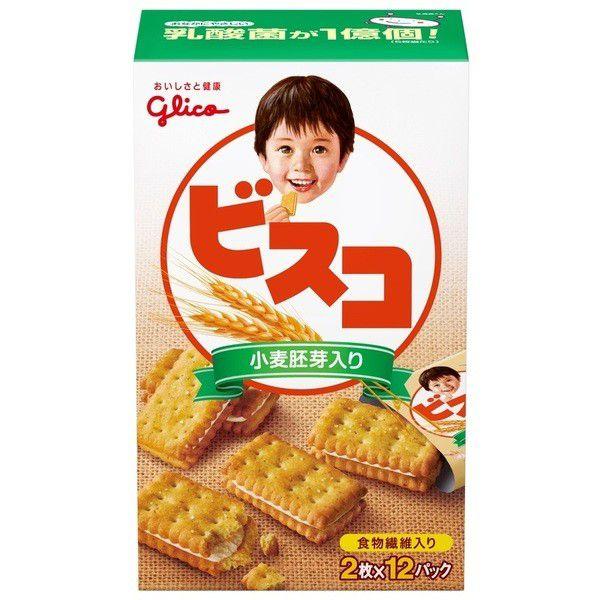 グリコ ビスコ 小麦胚芽入り 24枚×5箱
