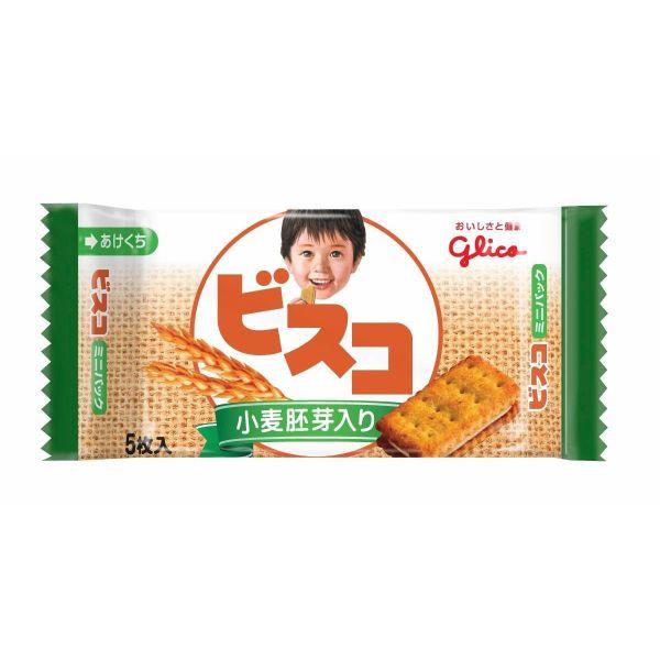 江崎グリコ ビスコミニパック(小麦胚芽入り) 5枚×20個