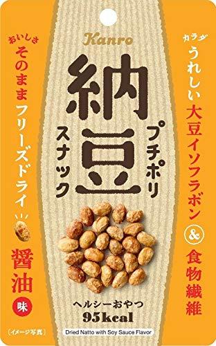 カンロ プチポリ納豆スナック醤油味 20g×10個