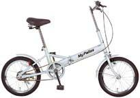 マイパラス 折畳自転車16型 M-101-S(シルバー) 【送料無料】折りたたみ自転車 16インチ