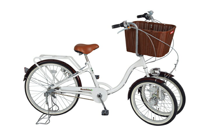 【送料無料】ミムゴバンビーナ バスケット付三輪自転車MG-CH243B フロントバスケットシマノ変速 BAA bambina