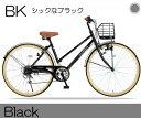 マイパラス シティサイクル 26インチ 6段ギア M-501-BK ブラック 【送料無料】【smtb-s】【RCP】