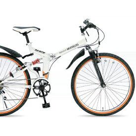 折畳ATB MTB M-670-W ホワイト 26型6段 マイパラス マウンテンバイク【送料無料】折りたたみ 26インチ