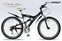 【新生活SALE】マイパラス MTB26型 18段 Wサス M-960-2-BK ブラック マウンテンバイク 【送料無料】