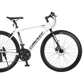 CANOVER/カノーバー クロスバイク 700×28CCAC-027-DC ATHENA (アテナ)【ホワイト】【送料無料】シマノ製21段ギア 通勤通学 スポーティ オオトモ