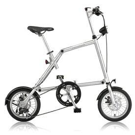 NANOO(ナノー)14インチ折りたたみ自転車FD-1408ポリッシュ 23937【送料無料】オオトモ豪華セット(56T/シマノ8段変速/フレームバッグ/ライト/スタンド)折畳み 折り畳み 超軽量 アルミ製 ディスクブレーキ 輪行バッグ