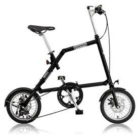 NANOO(ナノー)14インチ折りたたみ自転車FD-1408ブラック 23634【送料無料】オオトモ豪華セット(56T/シマノ8段変速/フレームバッグ/ライト/スタンド)折畳み 折り畳み 超軽量 アルミ製 ディスクブレーキ 輪行バッグ