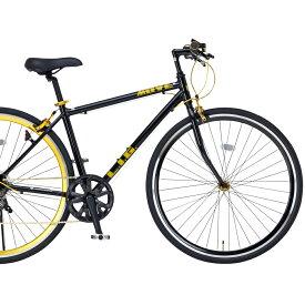 クロスバイク 700C LIG MOVE19246 ブラック【送料無料】シマノ製7段変速 オオトモ