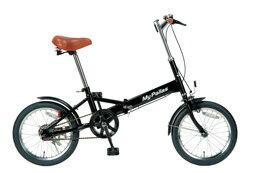 マイパラス 折畳自転車16型 M-101-BK(ブラック)【送料無料】折りたたみ自転車 16インチ