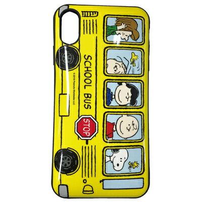 スヌーピーiPhoneXS/X対応IIIIfitケース(バス)
