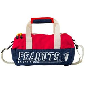 スヌーピー ロールボストンバッグ (紺)スヌーピー グッズ おしゃれ かわいい スポーツMIX ショルダー付き ブルー系 ネイビー 青 レッド 赤 カバン かばん 鞄 ミニショルダー