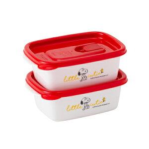 スヌーピー フラップ付きコンテナー400 2Pスヌーピー グッズ ホーロー 保存容器 食器 ウッドストック お弁当箱 ランチケース 耐熱140度