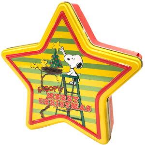 スヌーピー クリスマス スターシェイプティン 焼菓子・ビスケット・チョコレート入り