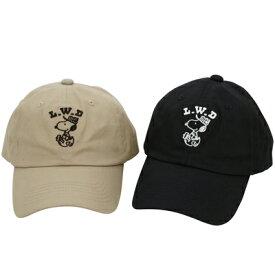 PEANUTS Lifework Design BASIC LOW CAP (Happy)スヌーピー キャップ 帽子 刺繍 深め 黒 ベージュ レディース メンズ ピーナッツ ライフワーク デザイン SNOOPY おしゃれ かわいい キャラクター グッズ 大人 向け プレゼントWorkson PEANUTS Lifework Design