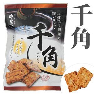 【千角 100g 】日本の米 100% 化学調味料 無添加 あられ おかき 佐賀県産 もち米 ヒヨクモチ 米油 二度塗り 醤油 じんわり うまい  【浪速のおかき屋  やまだ 】
