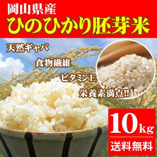 新米 10kg ひのひかり胚芽米 30年岡山県産 (5kg×2袋) 送料無料