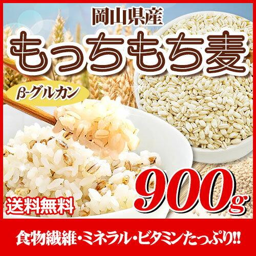 29年産 岡山県産大麦もっちもち麦900g 麦1kg 送料無料 麦 国産
