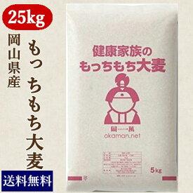もっちもち大麦 25kg (5kg×5袋) 30年岡山県産