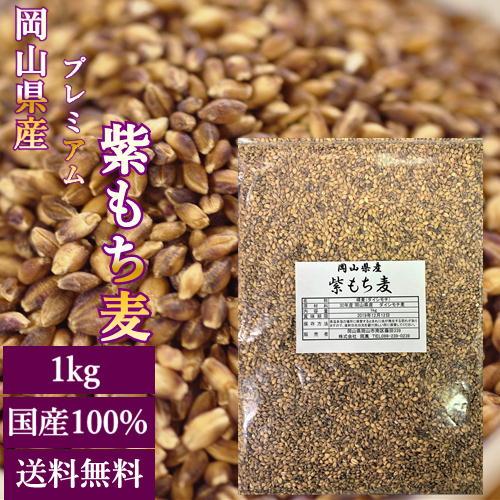 30年岡山県産プレミアム紫もち麦1kg チャック付