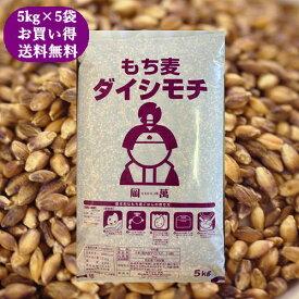 国産 もち麦 ダイシモチ 25kg (5kg×5袋) 紫もち麦