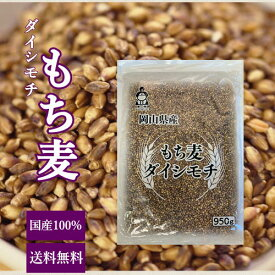 もち麦 国産 ダイシモチ 950g チャック付 岡山県産 送料無料